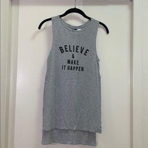 Believe and make it happen tank top